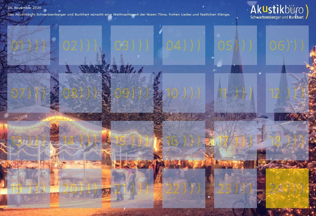 Vorschau Akustischer Adventskalender 2020